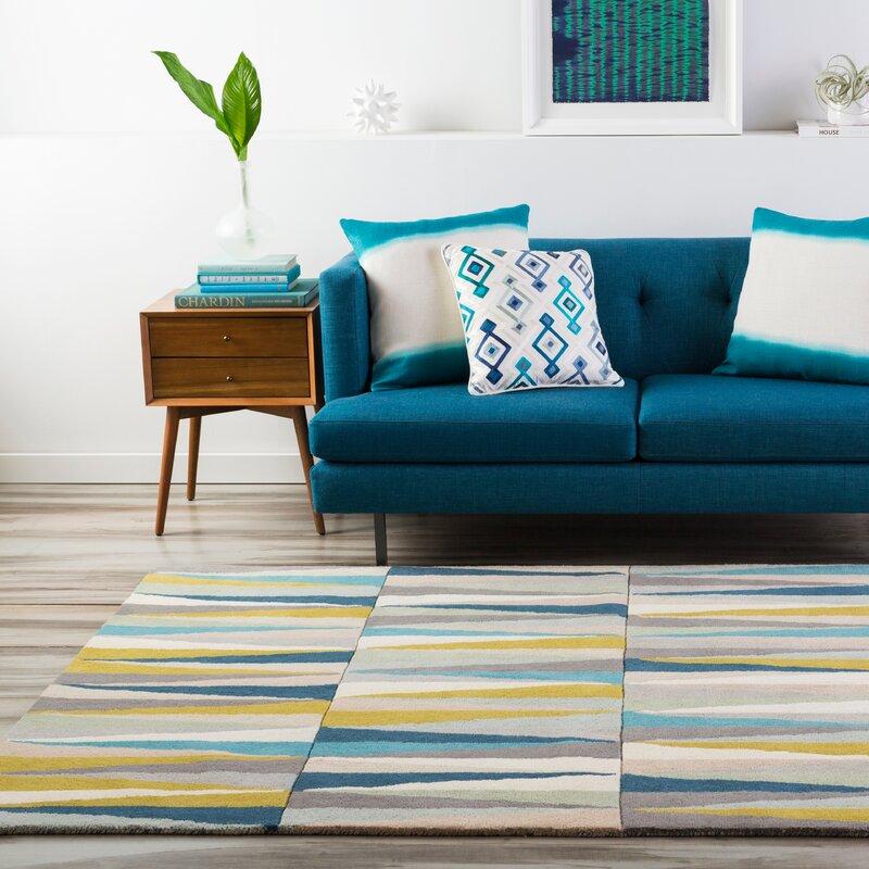 Vaughan Hand Tufted Wool Beige Blue Area Rug Amp Reviews