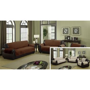 Microfiber Box Cushion Sofa Slipcover