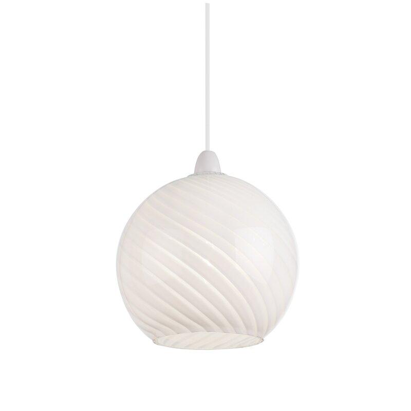 endon lighting 19 cm lampenschirm sphere aus glas. Black Bedroom Furniture Sets. Home Design Ideas