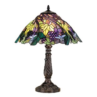Floral Animals Spiral Grape 22 Table Lamp