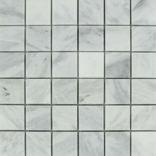 """Bianco Mare Honed 2"""" x 2"""" Marble Mosaic Tile by"""