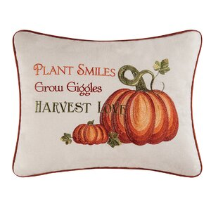 Harvest Love 100% Cotton Lumbar Pillow