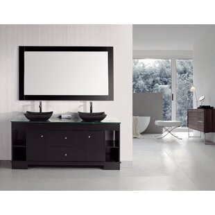 Penton 60 Double Bathroom Vanity Set with Mirror by dCOR design