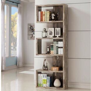 Pascarella Distressed Wooden Open Corner Unit Bookcase Union Rustic