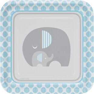 Little Peanut Boy Elephant Paper Salad Plate (Set of 24)