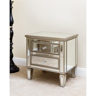 Guadeloupe 2 Drawer Mirrored Chest by House of Hampton