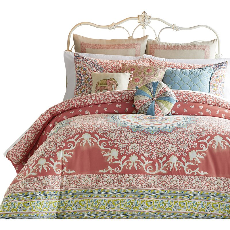 Amrita Medallion 400 Thread Count 100% Cotton Comforter Set