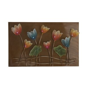 Colorful Flower Metal LED Wall Décor