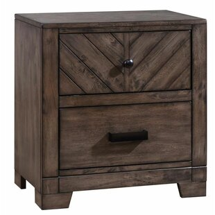 Castano Wooden 2 Drawers Nightstand by Union Rustic