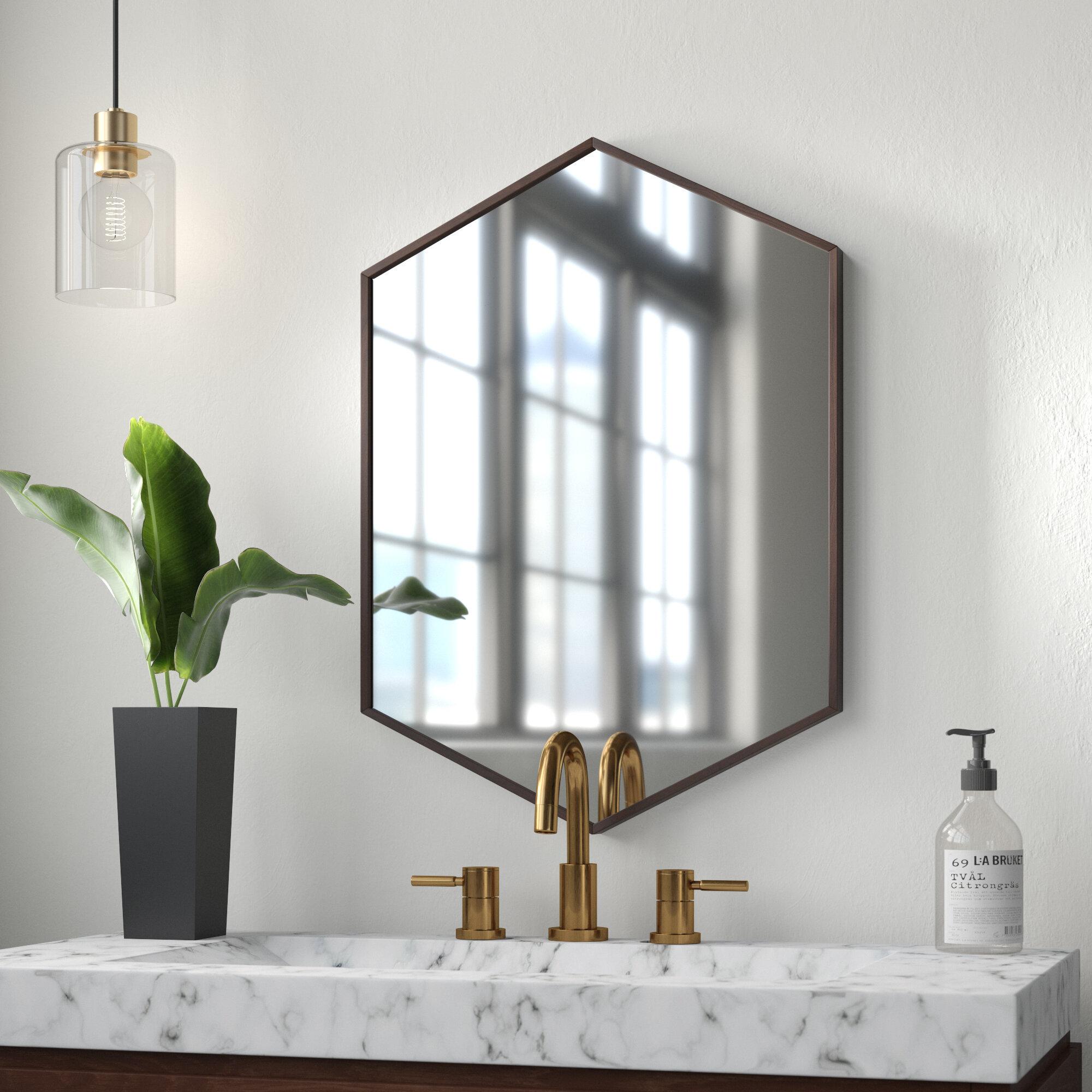 Mercury Row Logsdon Mid Century Hexagon Beveled Accent Mirror Reviews Wayfair Ca
