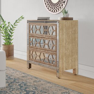 Read Reviews Milla 3 Drawer Chest by Wrought Studio