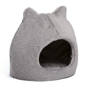 meow hut fur cat bed