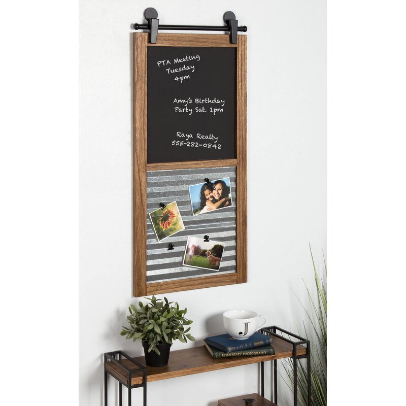 Gracie Oaks Wood Framed Chalkboard   Wayfair