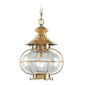 Shielo 1-Light Outdoor Hanging Lantern