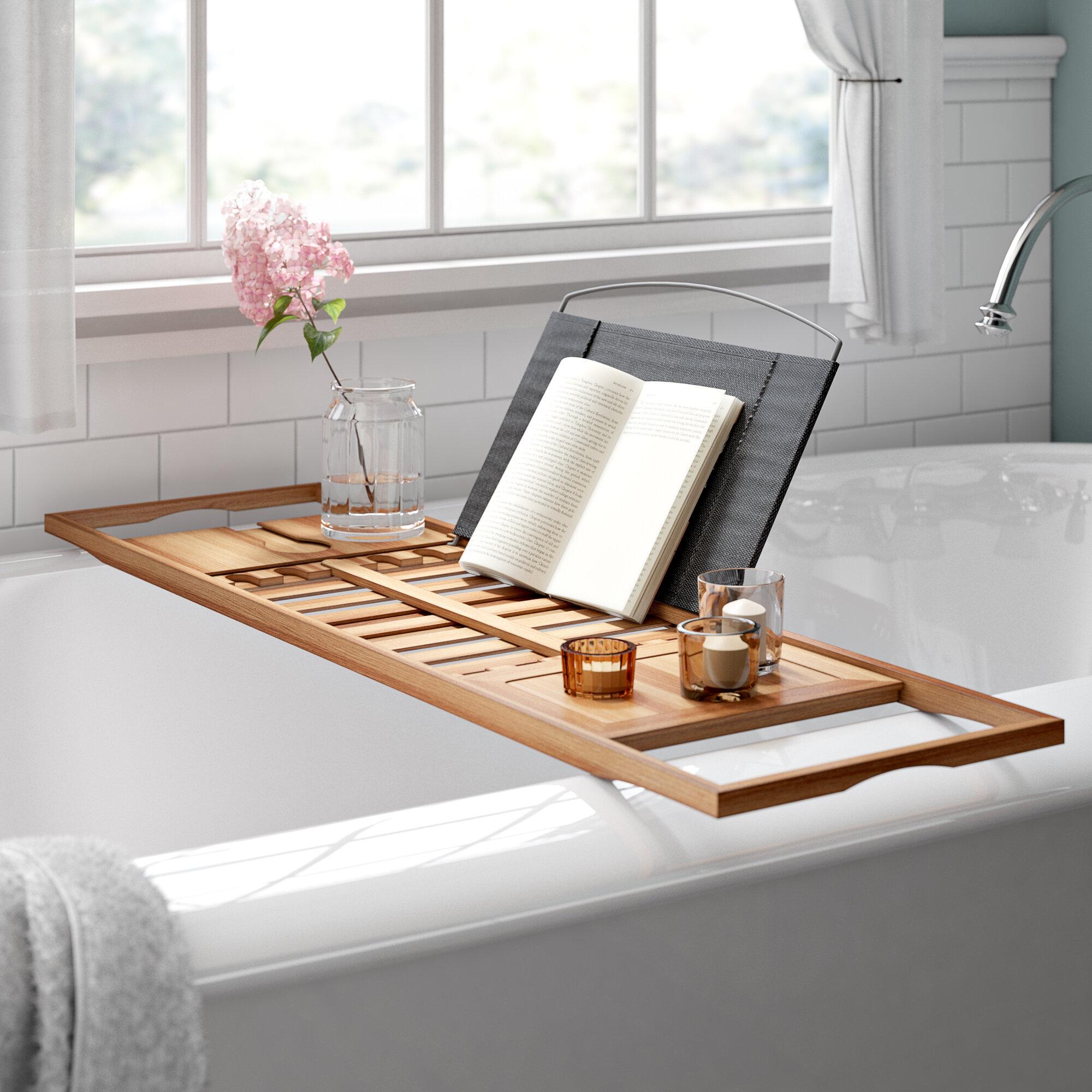 Rebrilliant Gardner Bamboo Bath Caddy Reviews Wayfair