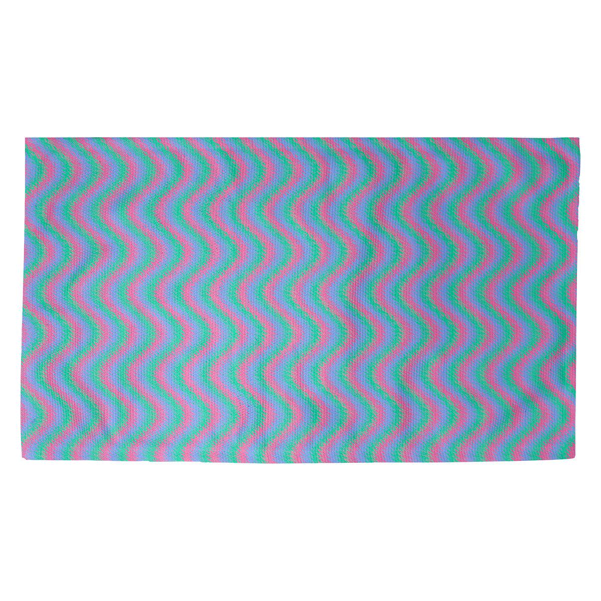 Latitude Run Avicia Wavy Stripe Red Blue Area Rug Wayfair