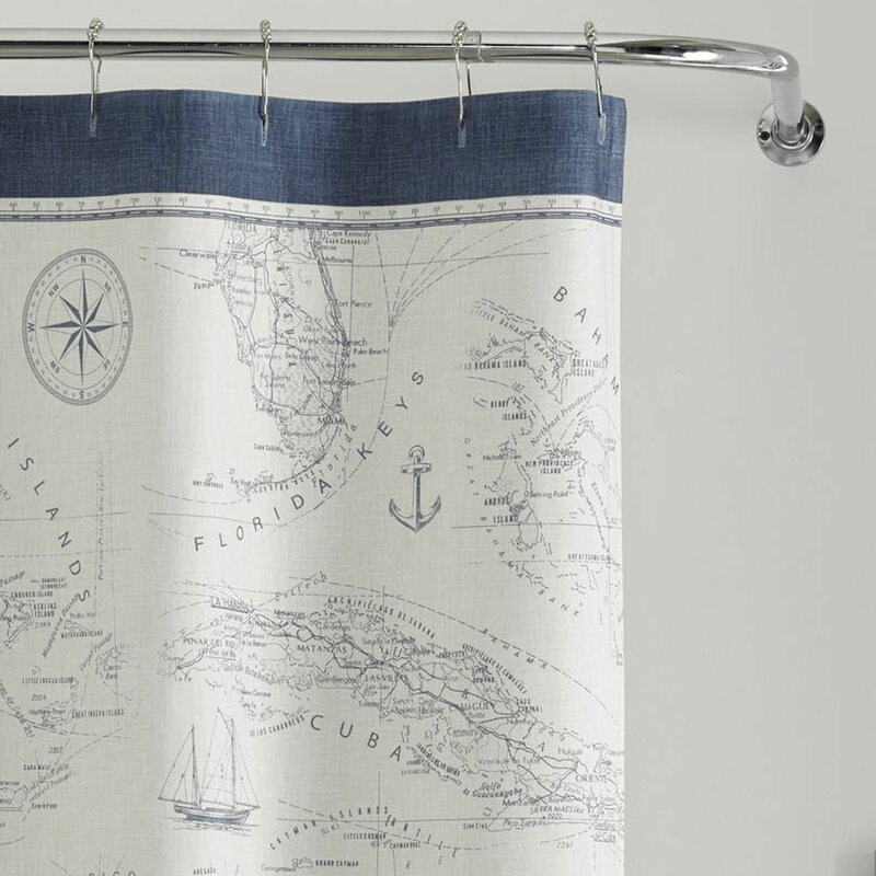 Caribbean Sea Cotton Shower Curtain