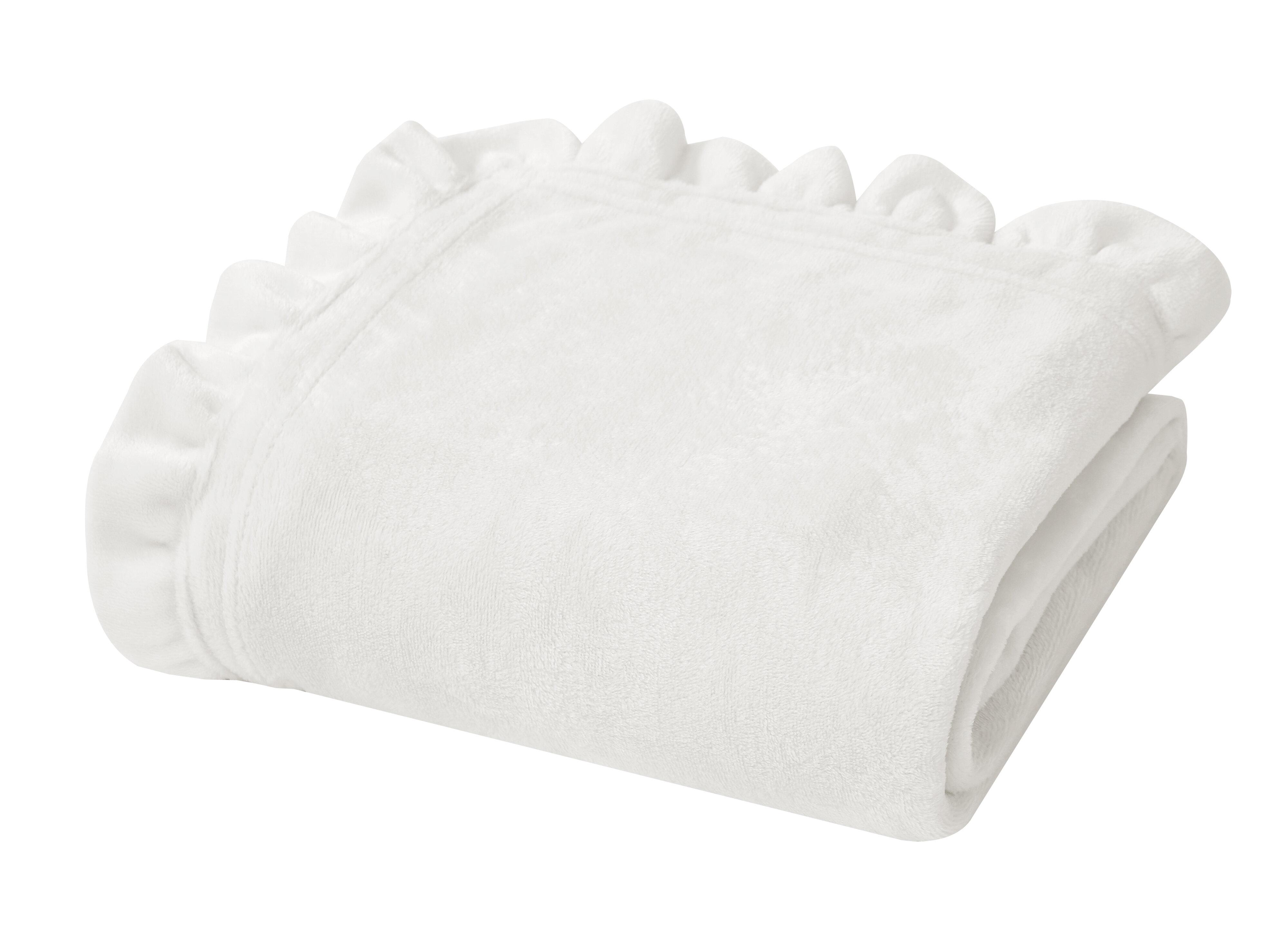 Fleece Microfiber White Blankets Throws You Ll Love In 2021 Wayfair