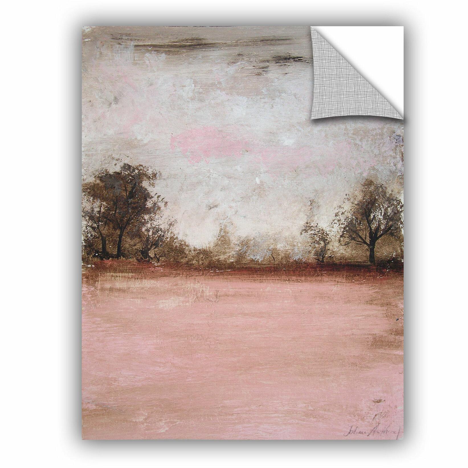 Red Barrel Studio Haddenham Pink Winter I Removable Wall Decal Wayfair