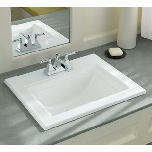 Price comparison Memoirs® Ceramic Rectangular Drop-In Bathroom Sink with Overflow By Kohler