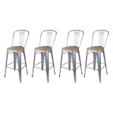 Jon 30 Bar Stool (Set of 4) by 17 Stories