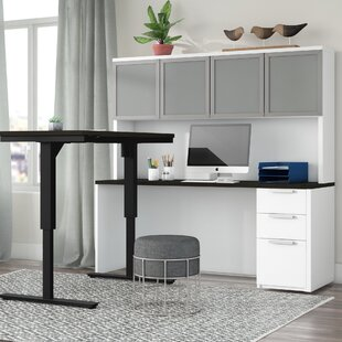Kadian Reversible L-Shape Corner Desk with Hutch