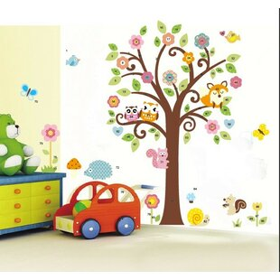 Full Tree of Flowers and Forest Friends Wall Decal  sc 1 st  Wayfair & Forest Friends Wall Decals | Wayfair