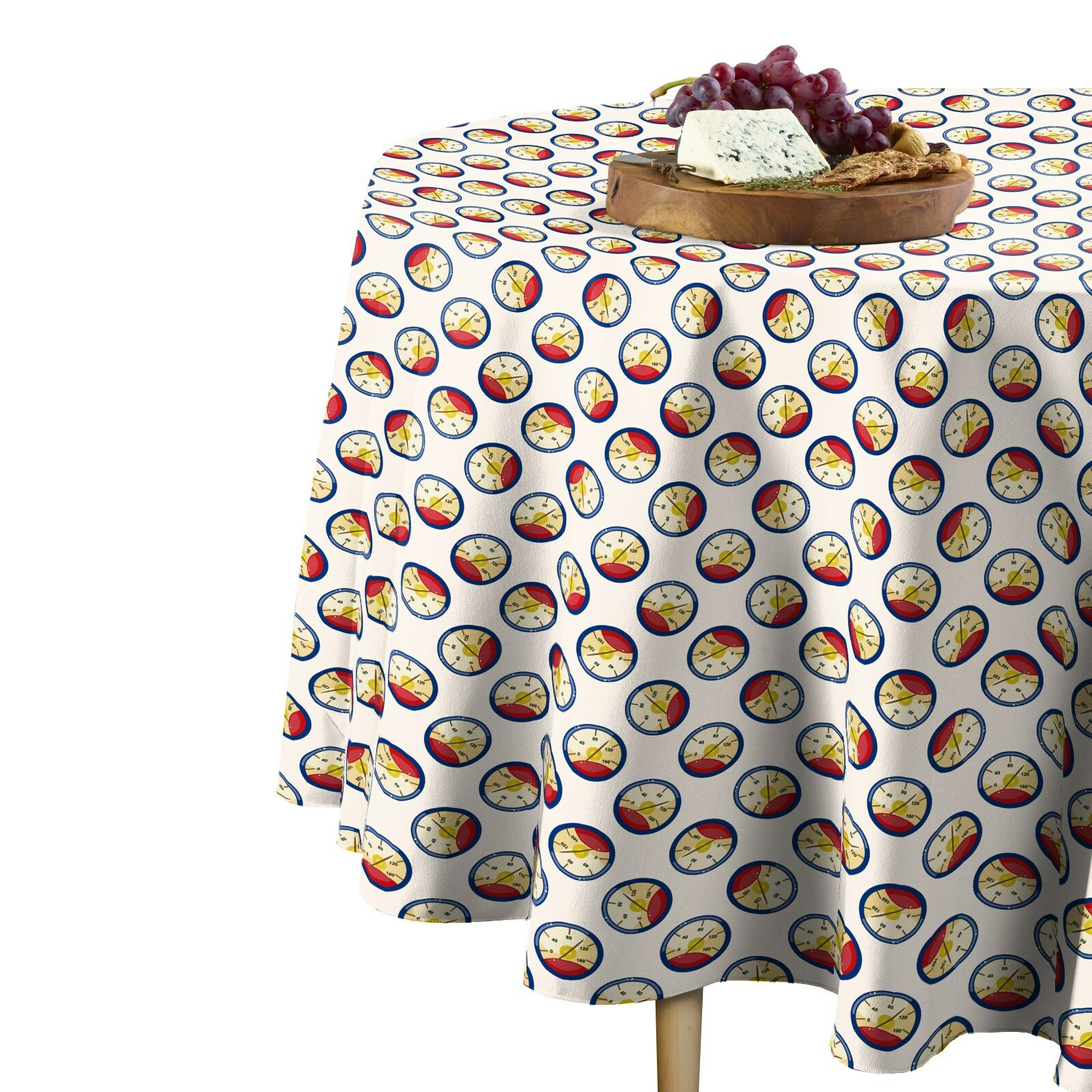 Winston Porter Damion Speedometer Round Tablecloth Wayfair