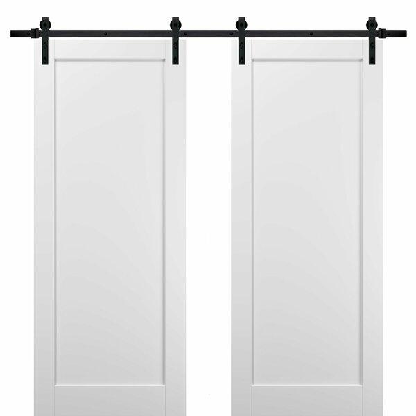 Sartodoors Paneled Manufactured Wood Quadro Barn Door With Installation Hardware Kit Wayfair