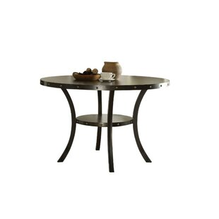 Calvillo Transitional Round Solid Wood Dining Table