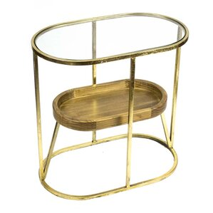 Metal/Glass/Wooden End Table by Sagebrook Home