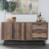 Lapish 65 Wide 4 Drawer Pine Wood Buffet Table by Trent Austin Design®