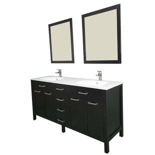 Drake 72 Double Bathroom Vanity Set with Mirror by Brayden Studio