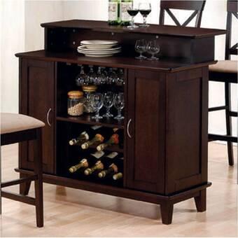 Gracie Oaks Kiely Bar With Wine Storage Wayfair