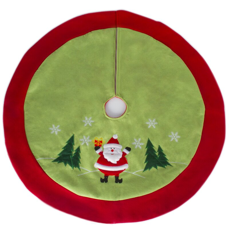 Traditional Jolly Santa Clause Christmas Tree Skirt