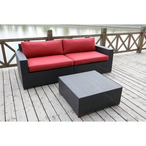 Scholtz 3 Piece Deep Seating Group with C..