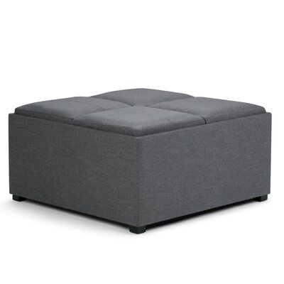 Agnon Storage Ottoman Upholstery Color: Slate Gray by Alcott Hill