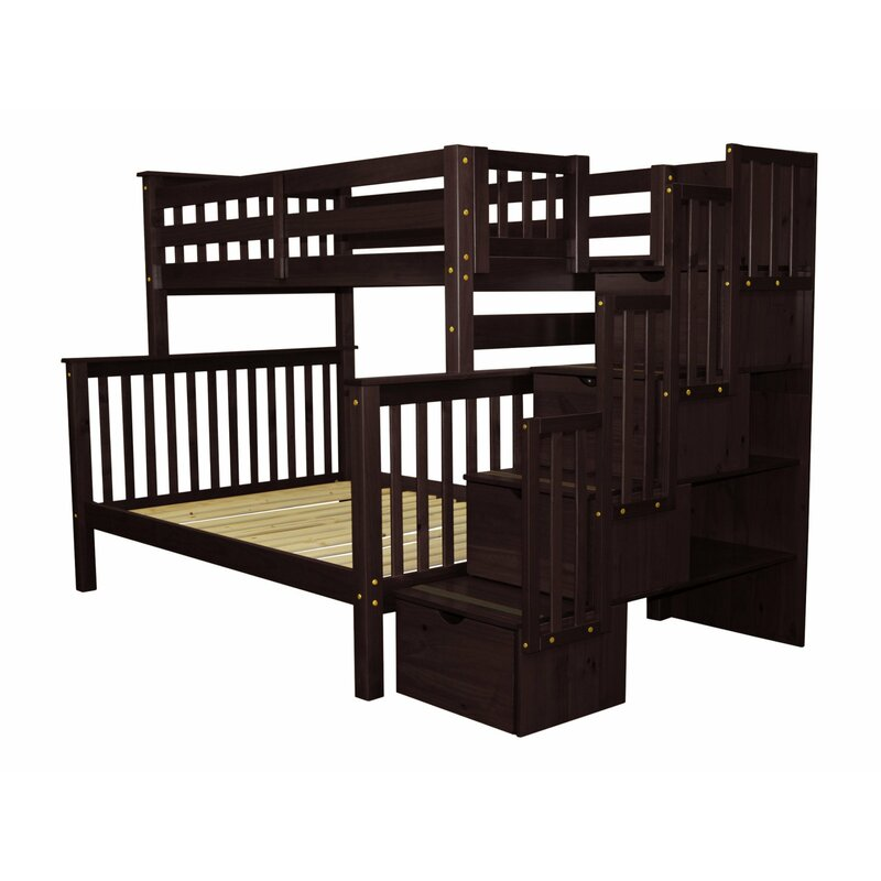 Stairway Twin Over Full Bunk Bed With Trundle Reviews Allmodern
