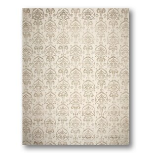 Price Check One-of-a-Kind Leone Hand-Knotted Olive/Beige Area Rug ByRosdorf Park