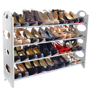 Affordable 4-Tier 20 Pair Shoe Rack By Rebrilliant