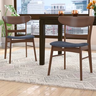 Flavius Solid Wood Dining Chair (Set of 2) Langley Street
