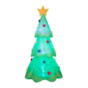 lighted christmas tree decor inflatable - Led Outdoor Christmas Tree