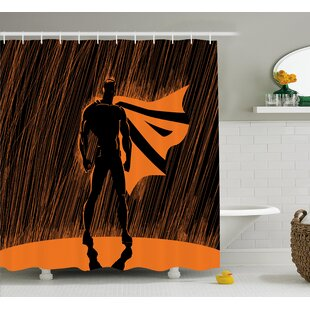 Superhero Super Powered Hero Shower Curtain