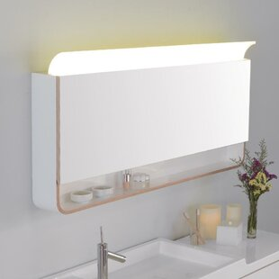 Unity Mirror 47.24 x 25.63 Surface Mount Medicine Cabinet with LED Lighting by Ronbow