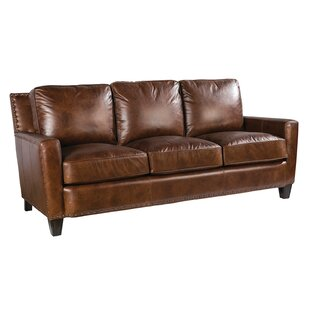 Navi Leather Sofa by Loon Peak Herry Up