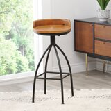 Roussillon Industrial 30 Swivel Bar Stool by Gracie Oaks
