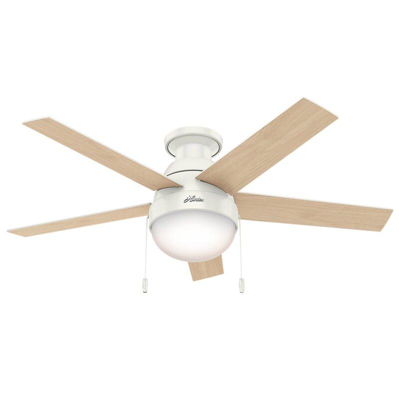 hunter ceiling fan wiring harness hunter fan 46  anslee 5 blade led flush mount ceiling fan with  led flush mount ceiling fan
