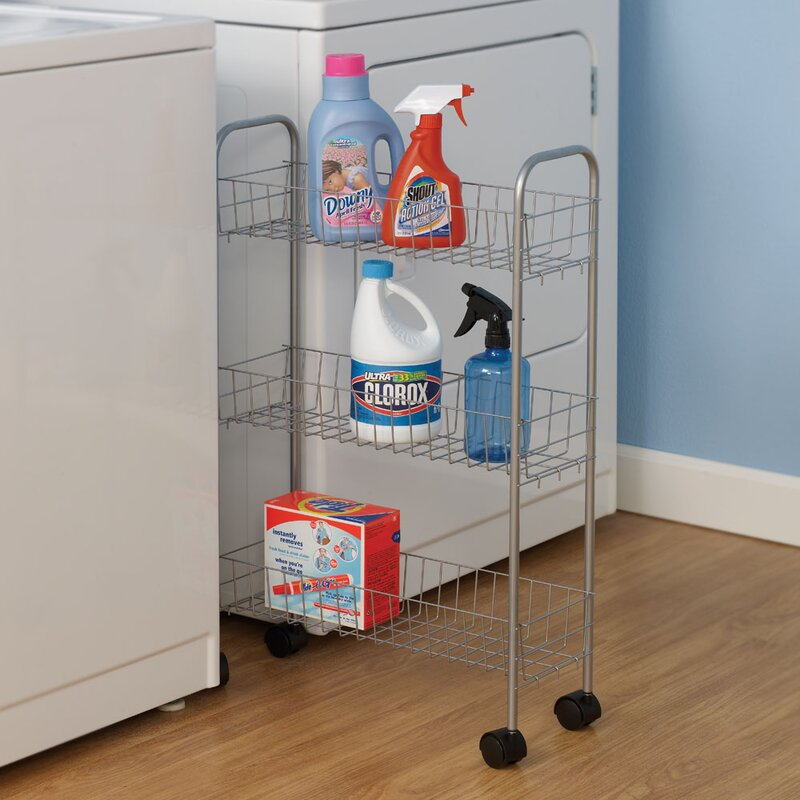 Slimline 3 Shelf Laundry Cart