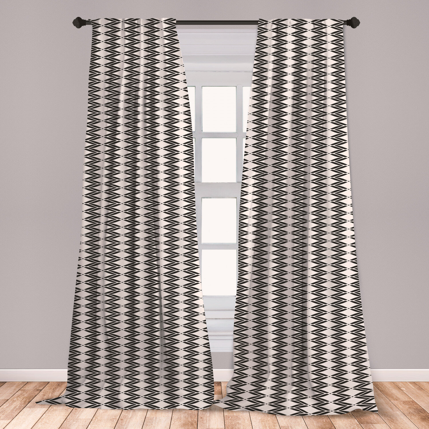 East Urban Home Art Deco Chevron Room Darkening Rod Pocket Curtain Panels Wayfair