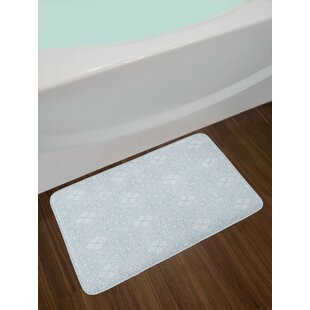 Celtic Soft Blue Gray Bath Rug